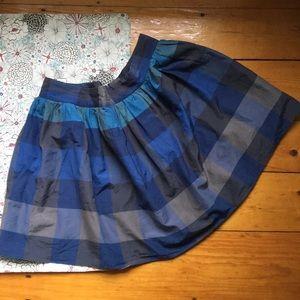 Land's End Canvas Cotton/Silk modern Plaid skirt